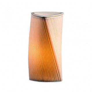 Elektrische Duftlampe Weiß 20cm hoch Wellen Keramik Tischlampe