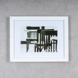 levandeo Bilderrahmen 13x18cm Weiß Holz MDF Glasscheibe Passepartout Rahmen - Vorschau 2