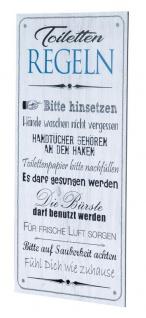 Wandbild 20x40cm Toilettenregeln Bad Spruch Deko Wandschild Bild Wanddeko