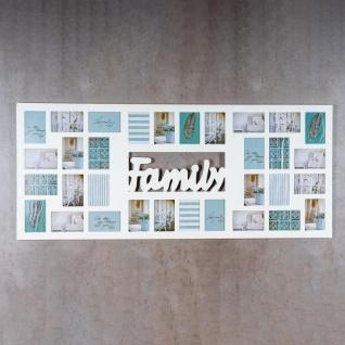 Bilderrahmen 139x60cm Holz Weiß Family 32 Fotos 10x15 Fotorahmen - Vorschau 2