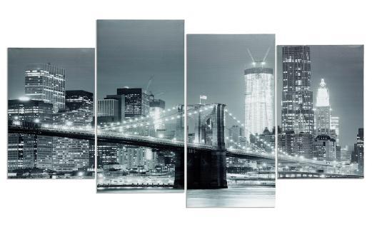 Wandbild 4 teilig New York Brooklyn Bridge USA Amerika Bild Leinwand