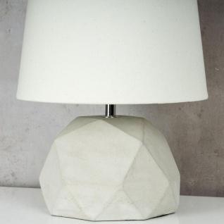 Tischlampe Beton Tischleuchte Leuchte Lampe Grau Design Industrial Industriell - Vorschau 5