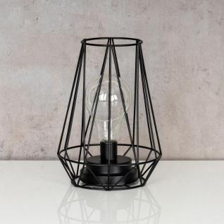 levandeo Tischlampe Metall Schwarz LED 17x24cm Lampe Standleuchte Leuchte Deko - Vorschau 2