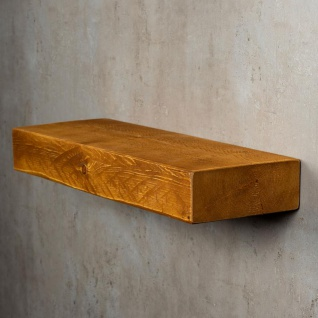 levandeo Wandregal Holz Massiv 60x20cm Teak Farbig Wandboard Regal Vintage Bord - Vorschau 4
