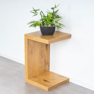 levandeo Couchtisch Coco Holz 32x32x50cm Wildeiche Tisch Beistelltisch Deko - Vorschau 3