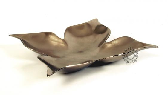 Sehr hochwertige Schale aus Aluminium matt/vernickelt massiv 30x30cm