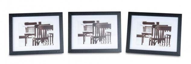 levandeo 3er Set Bilderrahmen 13x18cm Schwarz Holz MDF Glasscheiben Rahmen