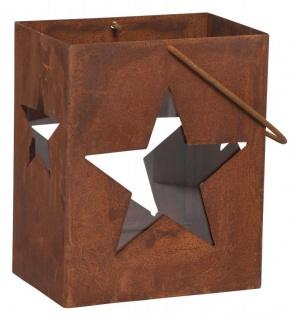 Windlicht Stern H28cm Rost Laterne Gartenleuchte Kerzenhalter Garten Rostdeko