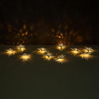 levandeo Lichterkette LED Weiß 10 Sterne Weihnachten Licht Beleuchtung Deko Xmas - Vorschau 5