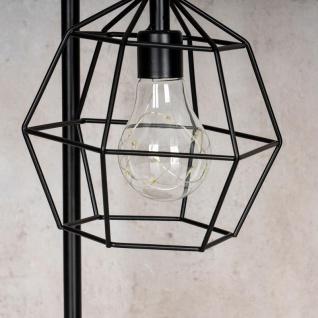 levandeo Tischlampe Metall Schwarz LED 33cm Hoch Lampe Standleuchte Leuchte Deko - Vorschau 3
