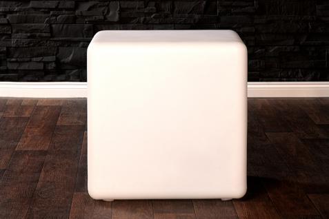 LED Würfel Hocker Sitzwürfel Design Lounge Beistelltisch Tisch Akku - Vorschau 2