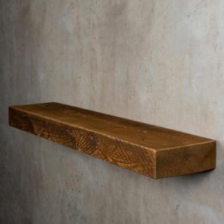 levandeo Wandregal Holz Massiv 100x20cm Nussbaum Farbig Wandboard Regal Vintage - Vorschau 4