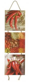 Wandbilder Küchen-Deko H53cm Peperoni Gewürze Kräuter Wanddekoration