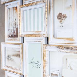 Bilderrahmen weiß gold gewischt 18 Fotos Barock antik Collage Galerie - Vorschau 4