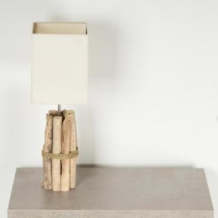 Tischlampe 17x50x17cm Treibholz Tischleuchte Unikat Holz Lampe Licht - Vorschau 3