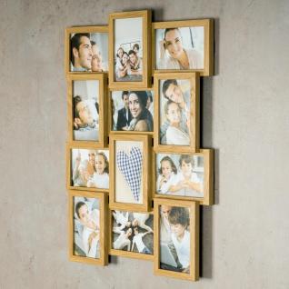 levandeo bilderrahmen collage 45x58cm 12 fotos 10x15 eiche mdf holz glasscheiben kaufen bei. Black Bedroom Furniture Sets. Home Design Ideas