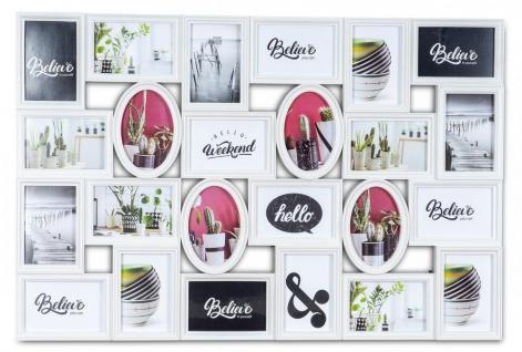 Bilderrahmen 24 Fotos 10x15cm 86x58cm Collage Galerie Weiß Fotocollage