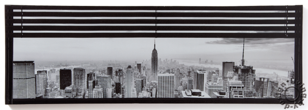 Wandbild USA New York Fenster Manhattan Leinwandbild 30x90cm