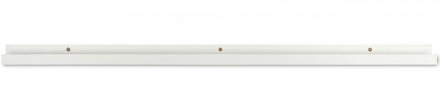 Bilderleiste Weiß 110cm lang MDF Holz Bilderschiene Galerieschiene Wandregal