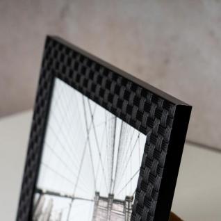 levandeo 2er Set Bilderrahmen Schwarz 10x15 + 13x18 Fotorahmen Rattan Optik Glas - Vorschau 4