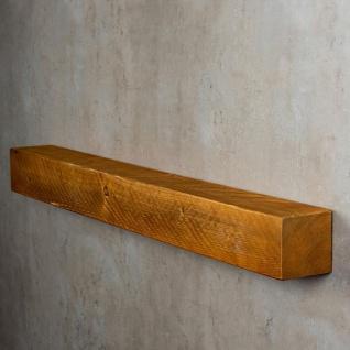 levandeo Wandregal Holz Massiv 100x10cm Teak Farbig Wandboard Regal Vintage Bord - Vorschau 4