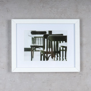 levandeo 3er Set Bilderrahmen 13x18cm Weiß Holz MDF Glasscheiben Rahmen - Vorschau 4
