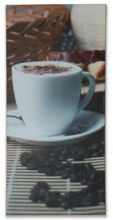 Wandbild 5er Set 86x42cm Leinwand Kaffee Cappuccino Küche Deko Bild - Vorschau 4