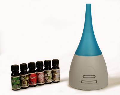Diffuser Aroma Duftlampe Lampe LED Beleuchtung inkl. 6 Duftöle türkis - Vorschau 1
