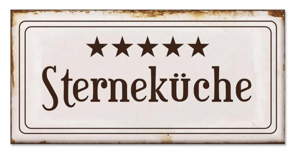 Blech-Schilder 3er Set je 18, 5 x 9 cm Sterneküche Metall Schild Wanddekoration - Vorschau 2