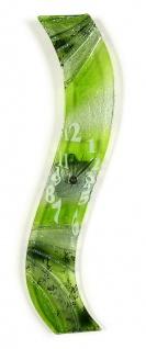 Design Wanduhr 50x8cm Verde Epoche aus Glas Glasuhr Unikat Handarbeit