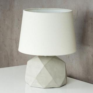 Tischlampe Beton Tischleuchte Leuchte Lampe Grau Design Industrial Industriell - Vorschau 3