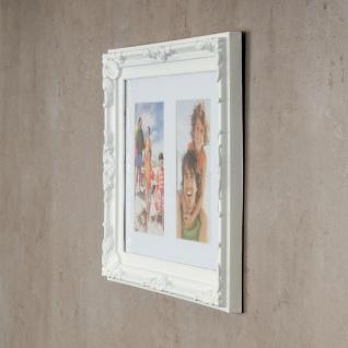 levandeo Bilderrahmen 2 Fotos 10 x15cm Barock Passepartout Weiß Collage Galerie - Vorschau 4