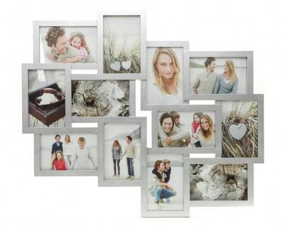 Bilderrahmen silber 12 Fotos Fotogalerie Fotocollage Collage Galerie - Vorschau 1
