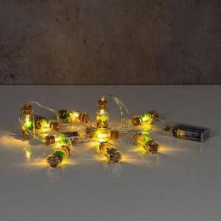 Lichterkette Innen 10 LED Lampe Sukkulenten Gläser Pflanzen Kunstpflanze Deko - Vorschau 5