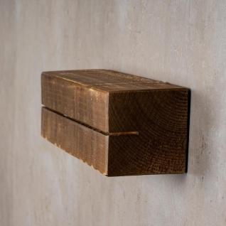 levandeo Schlüsselbrett Holz Massiv 35x10cm Nussbaum lackiert Schlüsselleiste - Vorschau 4