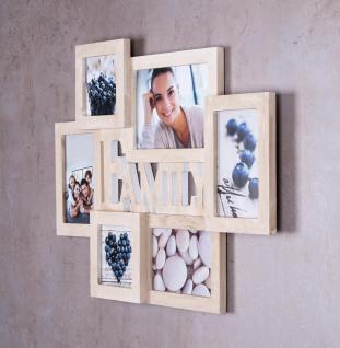 Bilderrahmen Holz 6 Fotos Family 53x38, 5 Fotorahmen Collage Galerie - Vorschau 3