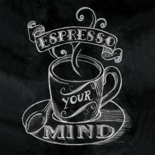 levandeo Glasbild 30x30cm Wandbild Bild Glas Espresso Coffee Kaffee Wanddeko