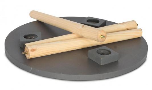 2er Set Beistelltisch Beton Optik Holz 2 Größen 40 und 48 cm rund Couchtisch - Vorschau 5