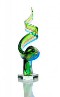 Glas-Skulptur groß Designer Figur mit Glassockel Hochwertiges Unikat