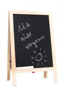 Memotafel Tafel inkl. Kreide Küchentafel Standtafel Memoboard Holz