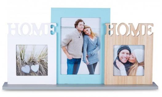 Bilderrahmen Holz 3 Fotos Home 44x23cm Fotorahmen Collage Galerie - Vorschau 2