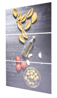 3er Set Wandbild B x H 40x60cm Aluminium Dibond Pasta Küche Deko Wanddeko