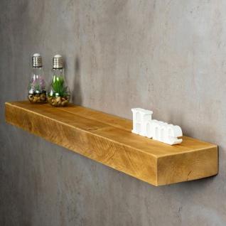 levandeo Wandregal Holz Massiv 100x20cm Eiche Farbig Wandboard Regal Vintage