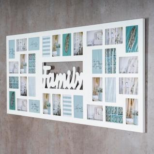 Bilderrahmen 139x60cm Holz Weiß Family 32 Fotos 10x15 Fotorahmen - Vorschau 3
