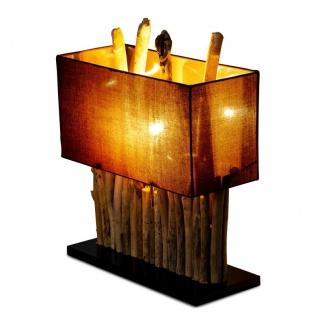 levandeo Lampe Braun 35 x 40 x 16 cm Tischlampe Treibholz Unikat Holzlampe Deko