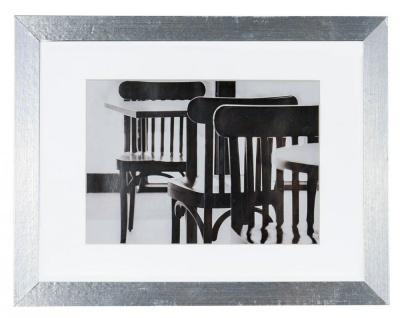 levandeo Bilderrahmen 13x18cm Aluminium Optik Holz MDF Glasscheibe Passepartout
