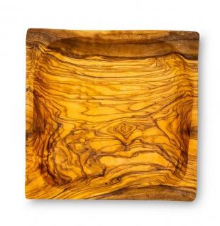 Holzschale Olivenholz ca. 12x12cm Schale Holz Dekoschale Natur Unikat Tischdeko - Vorschau 2