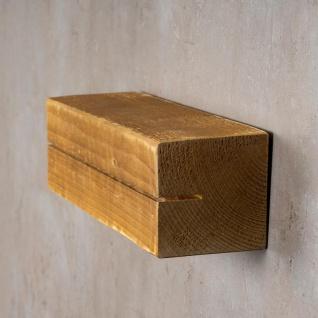 levandeo Schlüsselbrett Holz Massiv 35x10cm Eiche lackiert Schlüsselleiste Board - Vorschau 4
