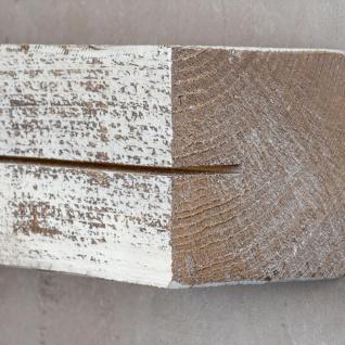 levandeo Schlüsselbrett Holz Massiv 35x10cm Shabby Chic lackiert Schlüsselleiste - Vorschau 5