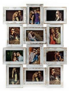 Bilderrahmen weiß gold gewischt 12 Fotos Barock antik Galerie Collage